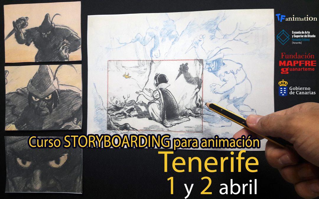 Curso Storyboarding para animación en Tenerife.