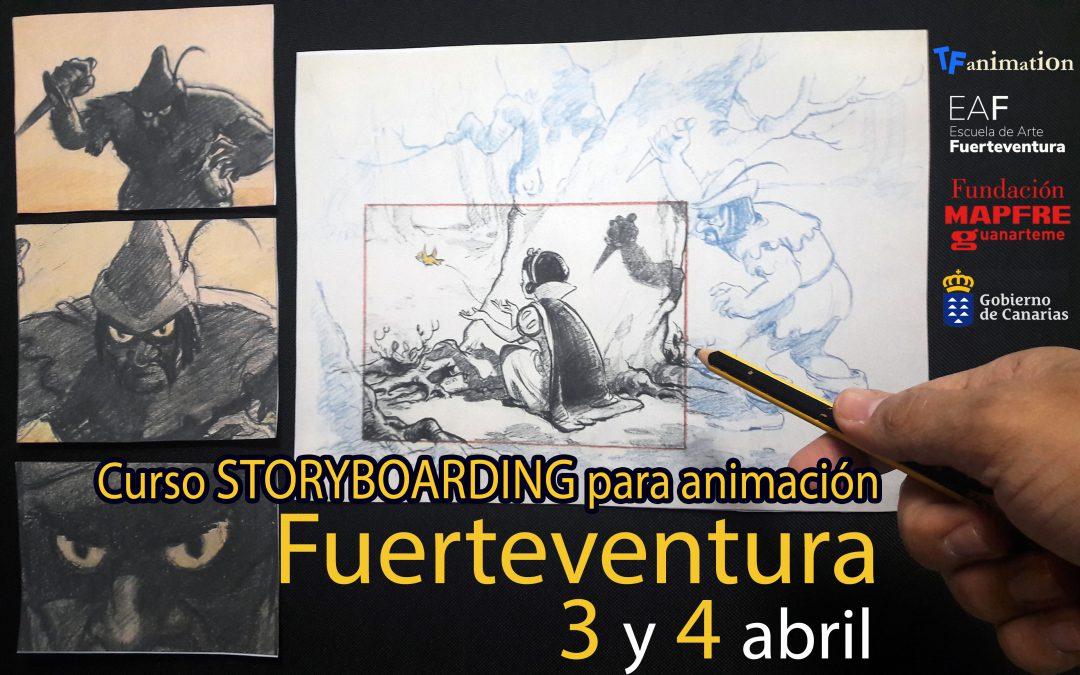 Curso Storyboarding para animación en Fuerteventura